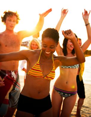 Feest op het strand van Gran Canaria