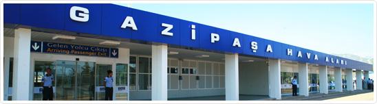 Gazipaşa vliegveld bij Alanya
