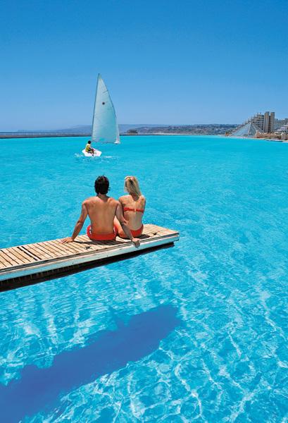 Grootste zwembad ter wereld: San Alfonso Chili